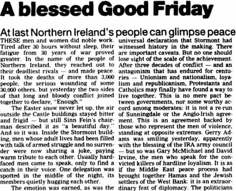 1998 A Blessed Good Friday From The Guardian The Guardian
