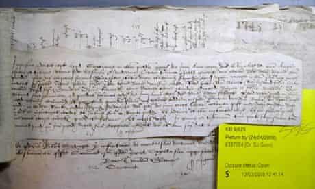 Tudor coroner's report detailing death of Jane Shaxspere