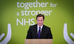 David Cameron NHS speech