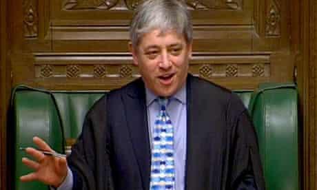 John Bercow, the Speaker of the Commons