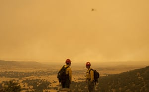 Arizona Wildfires: Firefighters watch for embers from a backburn