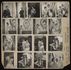 V&A Queen Portraits: Contact sheet of The Royal Family