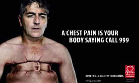 British Heart Foundation heart attack awareness campaign