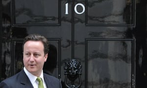 David Cameron outside No 10 Downing Street