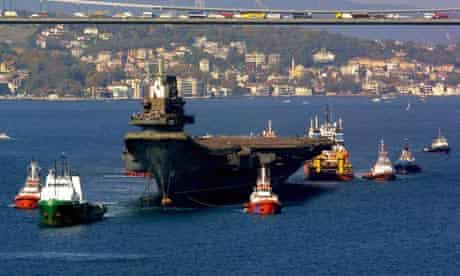 The Chinese aircraft carrier Varyag