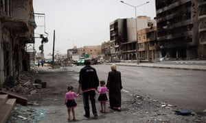 Tripoli Street, Misrata, after fighting between Gaddafi's forces and rebels