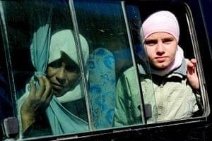 Syrian Refugees: Syrian refugees leave the Yayladagi Turkish Red Crescent refugee camp