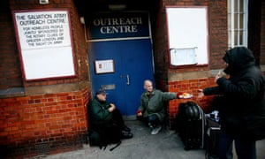 Homeless at Salvation Army outreach centre