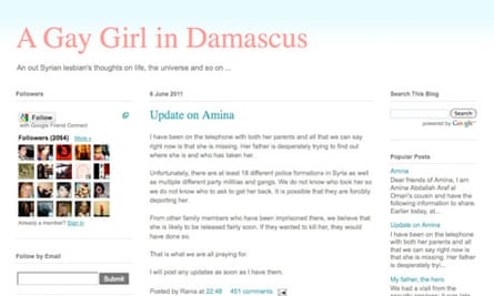 The homepage of  Gay Girl in Damascus