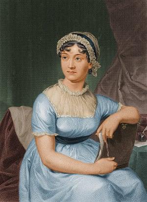 Literary picnics: portrait of English author Jane Austen