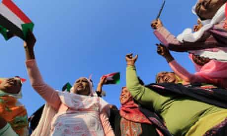 Supporters of Sudan's President Omar Hassan al-Bashir