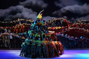 Communist Party 90th: Dancers perform, 90th anniversary of Communist Party