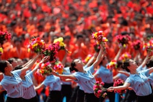 Communist Party 90th: Students perform at a ceremony, 90th anniversary of Communist Party