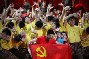 Communist Party 90th: Dancers at gala show, 90th anniversary of Communist Party