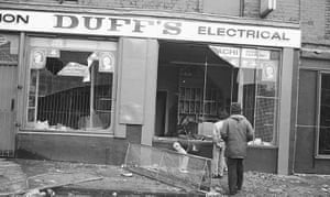 Toxteth Riots: A shop on Lodge Lane