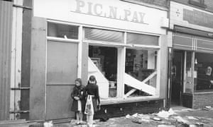 Toxteth Riots: Children exploring after the riot