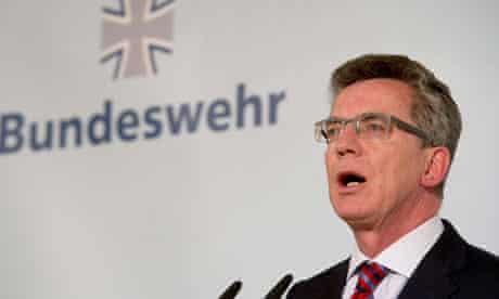 German defence minister Thomas de Maiziere