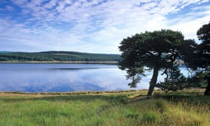 Kielder Water and Forest in Northumberland National Park Eng;and UK