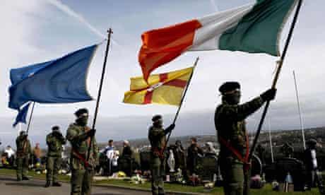 Real IRA members commemorate the 1916 Easter Rising against British rule