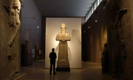 An Assyrian statue at Iraq's national museum, in Baghdad