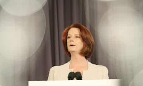Julia Gillard Addresses The National Press Club