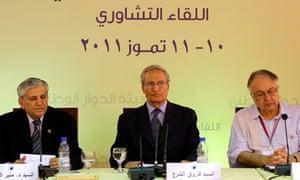 Syrian vice-president Farouk al-Sharaa