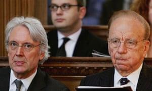 Rupert Murdoch and Les Hinton
