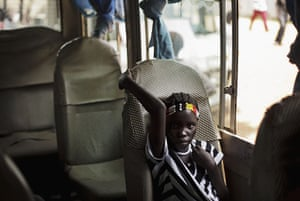 FTA: David Azia: A youth sits in a bus following rehearsals for independence celebrations