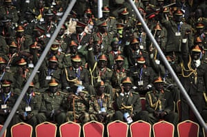 FTA: David Azia: SPLA generals wait for the start of independence celebrations in Juba