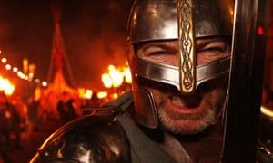 A viking in Edinburgh's Hogmanay celebrations