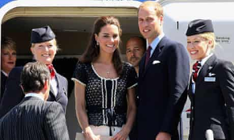 The Duke and Duchess of Cambridge at Los Angeles airport