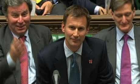 Jeremy Hunt addressing parliament