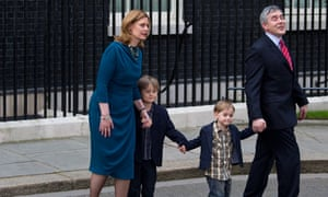 Brown family leave Downing Street May 2010