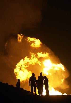 24 hours in pictures: gas pipeline explosion in Egypt