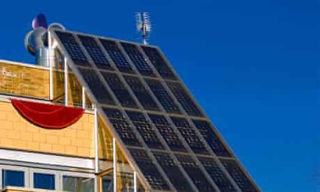 solar powered housing