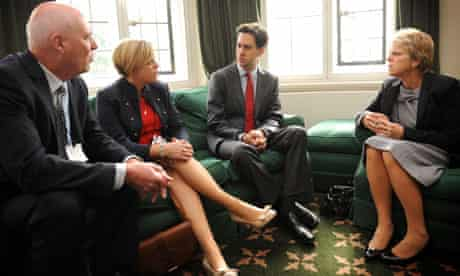 Ed Miliband and Dowler family