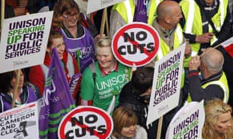 TUC demonstration against spending cuts, London, Britain - 26 Mar 2011
