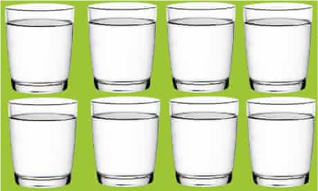 Myth: eight glasses a day.