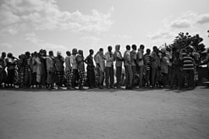 Somalia by Robin Hammond: Built to house 90,000 people, the camp holds more than 4 times that number