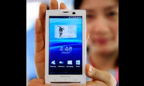 A Sony Ericsson Xperia phone