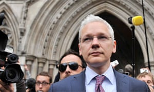 WikiLeaks founder Julian Assange leaving the high court this week