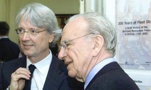 Les Hinton and Rupert Murdoch