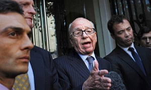 Rupert Murdoch in the midst of the phone hacking scandal.