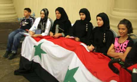 Syrian opposition supporters in Istanbul
