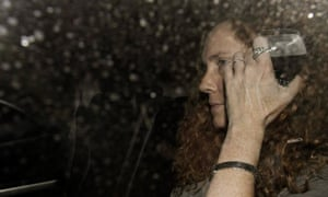 Rebekah Brooks in the midst of News of The World phone tapping scandal.