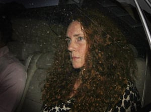 Rebekah Brooks leaves the office of The News of The World