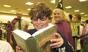 Harry Potter fans buying The Goblet of Fire when it first hit bookshops in July 2000