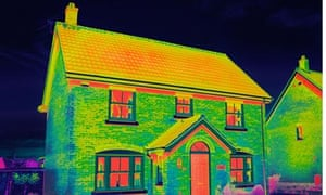 Infrared Thermal Insulated house