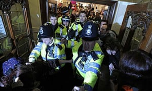 UK Uncut protest at Fortnum & Mason