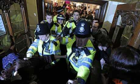 UK Uncut protest at Fortnum & Mason